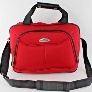 DOCKERS Carry On Travel Bag Luggage RED Messanger